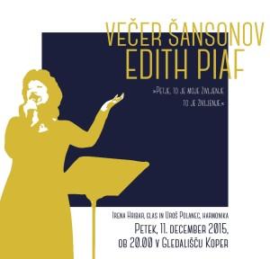 Večer šansonov Edith Piaf